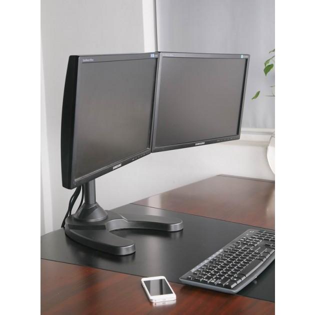 Supporto da scrivania per 2 Monitor da 13-24 con base ...