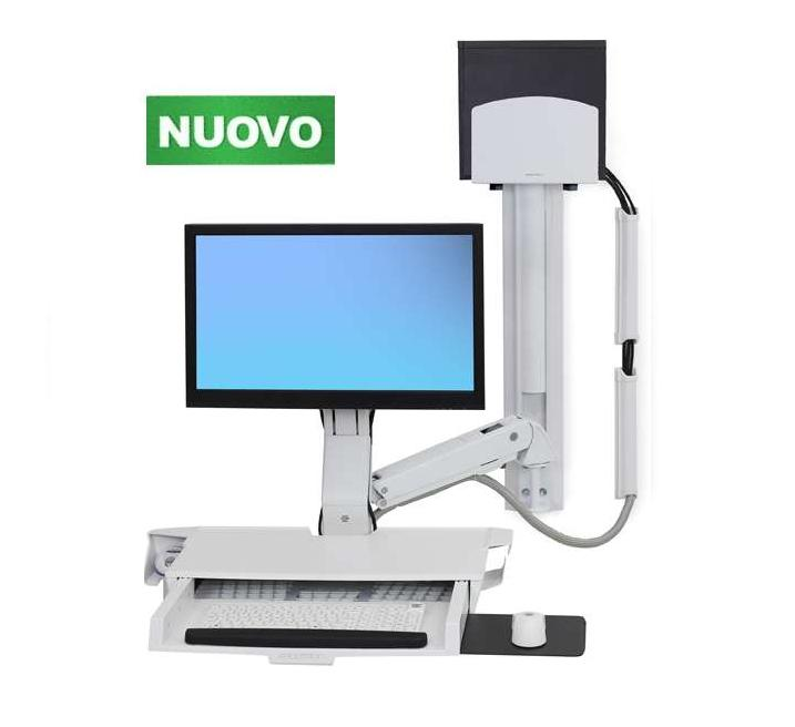 Serie styleview sit stand combo system con tastiera a - Porta computer a scomparsa ...