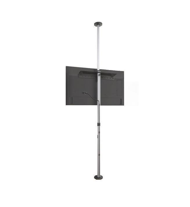 Porta Tv Da Soffitto.Supporto Telescopico 270cm A Soffitto E Pavimento Per Tv