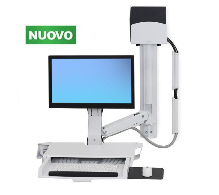 Scrivania Con Monitor A Scomparsa.Serie Styleview Sit Stand Combo System Con Tastiera A Scomparsa